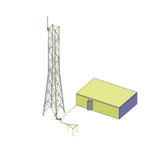 Zestaw piorunochronów telekomunikacyjnych Pylon