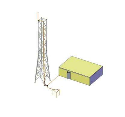 Kit pylône telecommunication paratonnerre